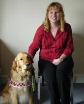 Lucy Jaques With Her Guide Dog